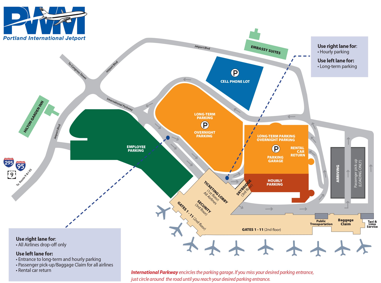 Portland Airport Map Jetport Map | Portland International Jetport Portland Airport Map